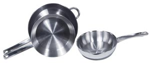 Induction S/S Fry Pans Uncoated