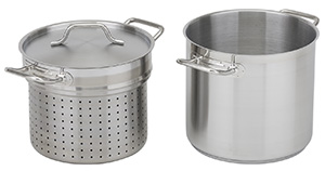 NSF Stainless Steel Pasta Cooker with Lid, 12 qt
