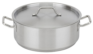 NSF Stainless Steel Braizer with Lid, 15 qt
