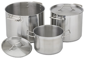 NSF Stainless Steel Stock Pot with Lid, 8 qt