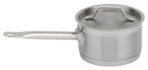 NSF Stainless Steel Sauce Pan with Lid, 6 qt