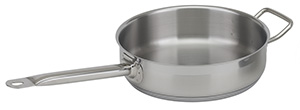 NSF Stainless Steel Saute Pan with Lid, 3 qt