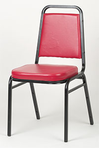 Square Back Stack Chair - Red