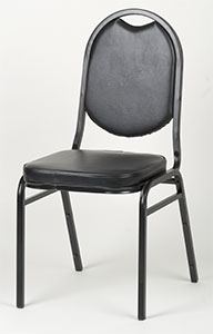 Round Back Stack Chair - Black