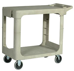Rubbermaid 4505 Flat Top Utility Cart, Beige