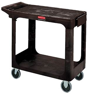 Rubbermaid 4505 Flat Top Utility Cart, Black