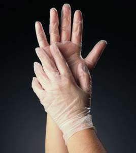 Extra-large powder free latex glove