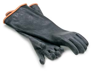 Rubber Gloves Elbow Length