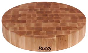 "Non-Reversible Cutting Boards, 18"" diam. x 3"""