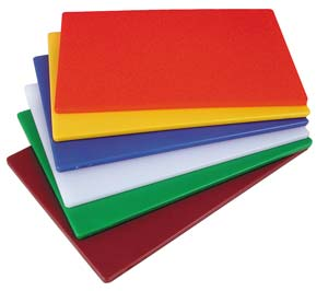 "Color Coded Cutting Boards, 18"" x 12"" x 1/2"""