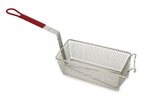 "Fryer Basket 12 7/8"" with Coated Handle"