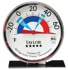 Professional Refrigerator & Freezer Thermometer