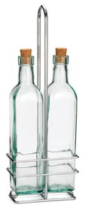 Prima™ Olive Oil Bottle & Chrome Rack Set, 8-1/2oz Cork