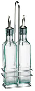 Prima™ Olive Oil Bottle & Chrome Rack Set, 8-1/2oz Pourer