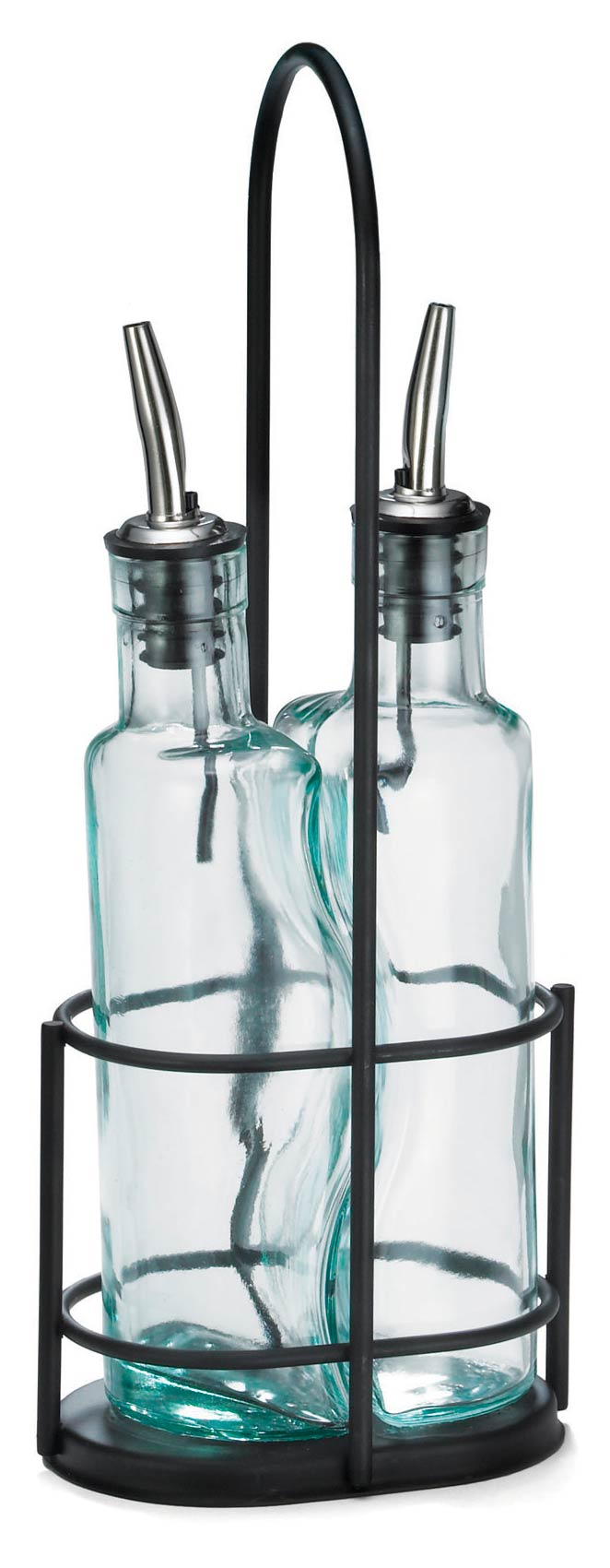 Gemelli™ Olive Oil Bottle & Black Rack Set, Pourer
