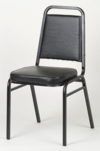 Square Back Stack Chair - Black