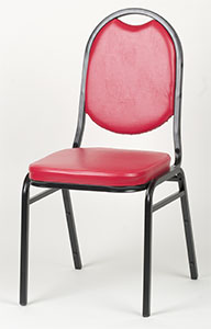 Round Back Stack Chair - Red