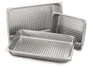 "Perforated Steam Table Pan, Half Size x 2.5"" Deep"
