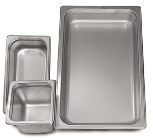 "Steam Table Pan, Heavy Duty - Quarter Size x 2.5"" Deep"